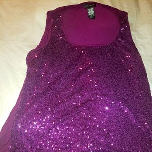 Lord and Taylor Sequined Tank